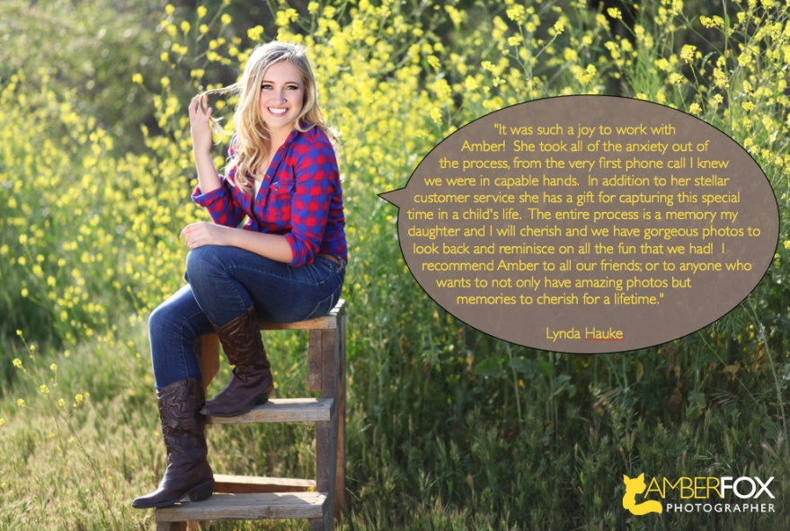 Testimonial for Amber Fox Photographer, Sarah Hauke