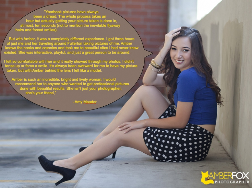 Amber Fox Photographer, OC Senior Portrait Photographer, Testimonial