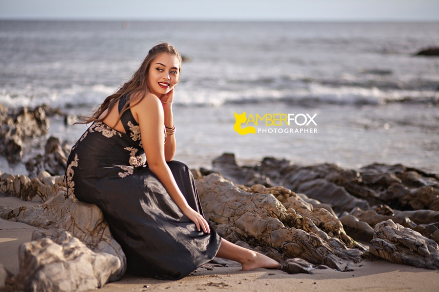 Amber Fox Photographer, OC Senior Portrait Photographer, Senior Portraits on the Beach