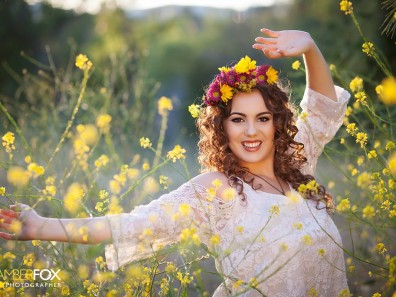 Amber Fox Photographer, Senior Pictures in flowers, Senior Pictures in Orange County